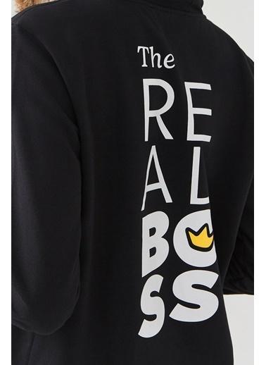 Avva Erkek  Kapüşonlu Sweatshirt A02Y1090 Siyah